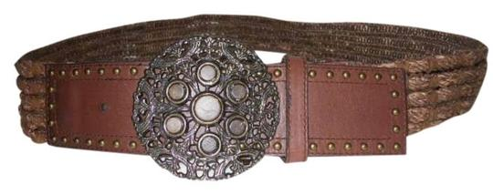 Preload https://item5.tradesy.com/images/brown-leather-and-woven-hemp-belt-399474-0-0.jpg?width=440&height=440