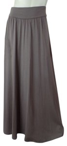 New York & Company Comfy Xs Maxi Long Maxi Skirt Taupe