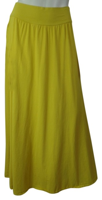 Preload https://item1.tradesy.com/images/new-york-and-company-comfy-thin-maxi-skirt-mustard-yellow-3994990-0-0.jpg?width=400&height=650