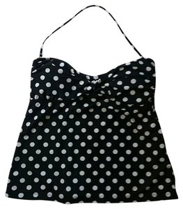 Mossimo Supply Co. NWT Black and white polka dot Mossimo Tankini top - XL