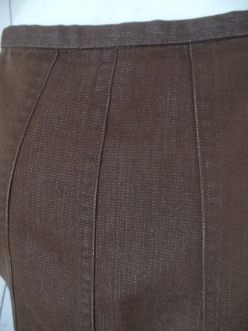 Banana Republic Size 4 Cotton Polyester Mini Unlined Thin Waistband Stretch Mini Skirt Brown
