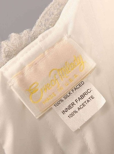 Eve of Milady Silk White (Looks Diamond White) Satin 4288 Em88 Formal Wedding Dress Size 6 (S)