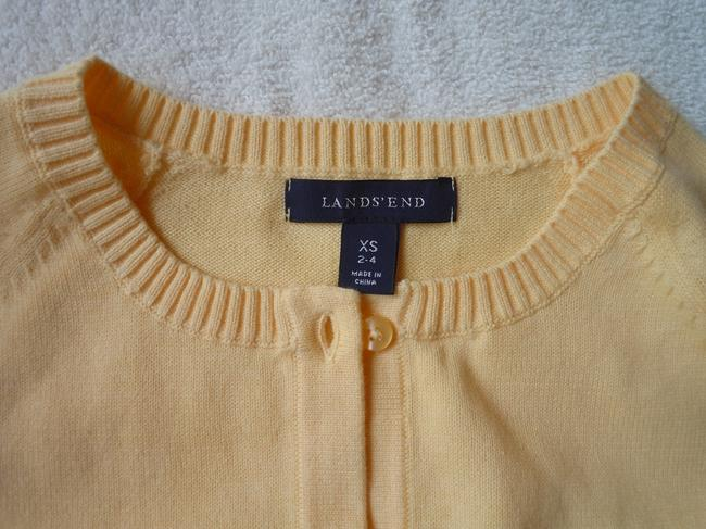 Lands' End Cotton Sweater Small Cardigan
