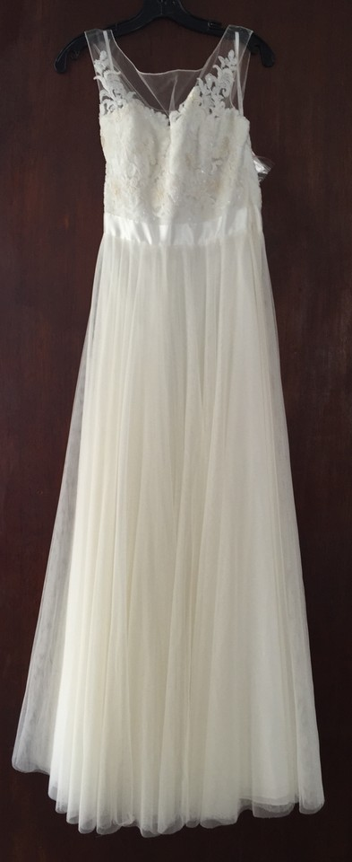 9e9b23243525 Watters Ivory Lace Bobbinet Tulle Double-faced Satin Lucca Maxi ...