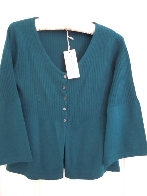 Woolovers Wool Empire Waist Cashmere Cardigan