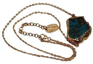 Vivian Tamayo Turquoise Pendant Gold Plated