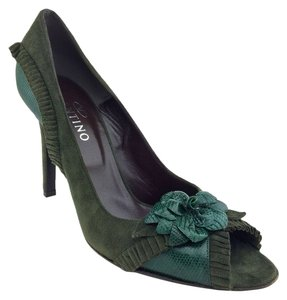 Valentino Suede Stiletto Green Pumps
