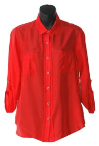 Graham & Spencer All Silk Loose Fitting Top red