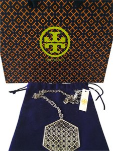 Tory Burch NWT Tory Burch Perforated Logo Necklace