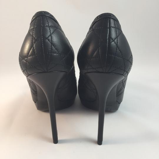 Dior Cannage Quilted Christiandior Bow Black Pumps
