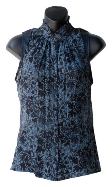 Preload https://item4.tradesy.com/images/teenflo-blue-floral-print-navy-silk-blouse-button-down-top-size-2-xs-3996523-0-0.jpg?width=400&height=650