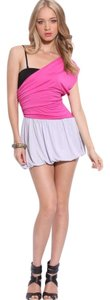 TFNC short dress Off-White, Pink, Black on Tradesy