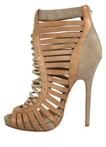 Jimmy Choo Leather Suede Ankle Strappy Sandals