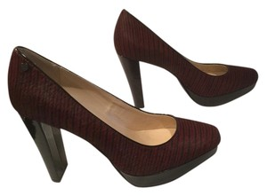 Calvin Klein Burgundy and black Pumps