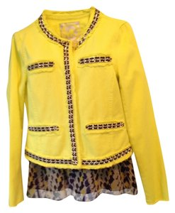 Michael Kors Deni Studded Yellow Womens Jean Jacket