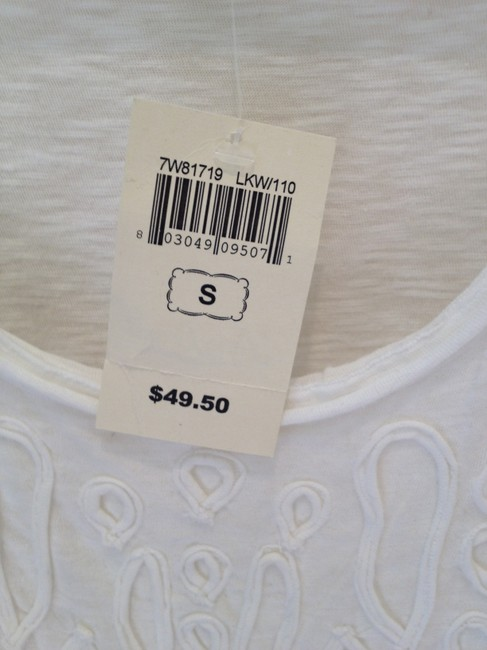 Lucky Brand Sleeveless Embellished Top white