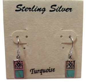 Athra Turquoise and Silver 925 Dangle Earrings