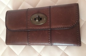 Fossil Fossil Brown Leather Continental Wallet