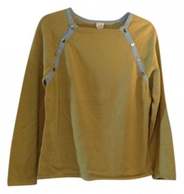 Preload https://item1.tradesy.com/images/j-jill-olive-and-blue-sweaterpullover-size-8-m-39975-0-0.jpg?width=400&height=650