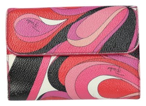 Emilio Pucci * Emilio Pucci Travel Leather Wallet - Pink