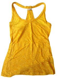 Zenana Outfitter Burnout Racer Back Workout Top Yellow