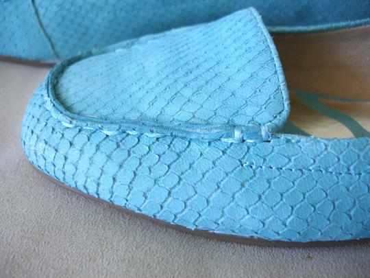 Anne Klein Flex Loafer Blue Rubber Sole Comfort turquoise Flats