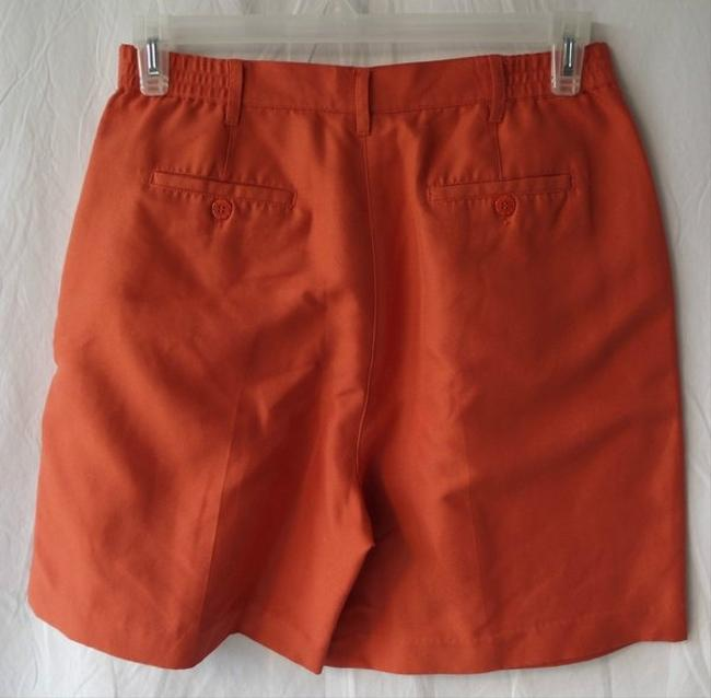 Fairway Outfitters Pleated Golf Dress Shorts Orange