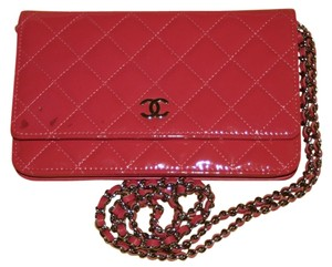 Chanel Wallet Chain Woc Patent Flap Cross Body Bag