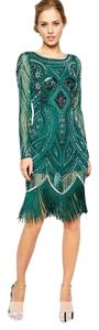 Frock and Frill Gatsby Emerald Flapper Unique Dress