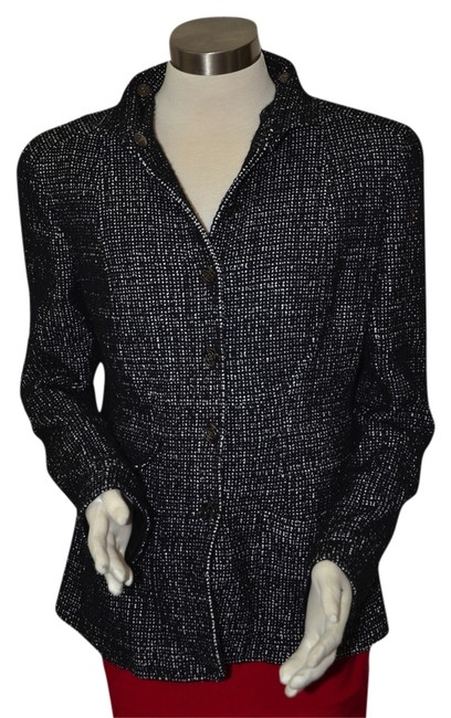 Chanel 100% AUTH CHANEL WOOL SILK BOUCLE JACKET COAT BLAZER JACKET FANTASY 02A 44 12