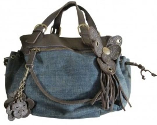 Preload https://item5.tradesy.com/images/bcbgeneration-w-and-details-blue-w-brown-trim-denim-and-leather-satchel-39994-0-0.jpg?width=440&height=440