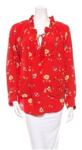 Rebecca Taylor Red Floral Top Red/Floral