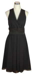 Dice Kayek Wool Surplice Sleeveless Dress