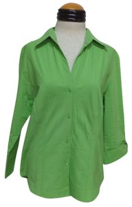 Worthington Button Down Shirt Green