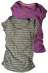 Liz Lange Maternity for Target 2 for 1: scoop neck tee shirt with side ruching