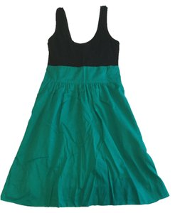 Express short dress Black & Green Summer Spring Fall Going Out on Tradesy