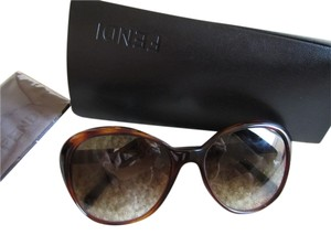 Fendi FENDI Sunglasses Logo Plastic Brown striped MADE IN ITALY UV protect
