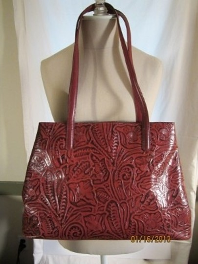 Coldwater Creek Tote in Dark Red