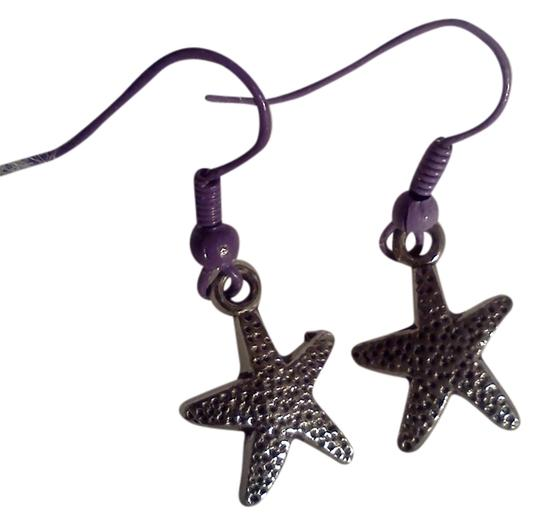 Preload https://item1.tradesy.com/images/silver-tone-and-purple-new-never-worn-starfish-hook-style-earrings-4000420-0-0.jpg?width=440&height=440