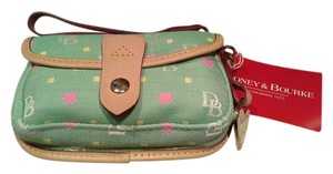 Dooney & Bourke Wristlet in Pink Green