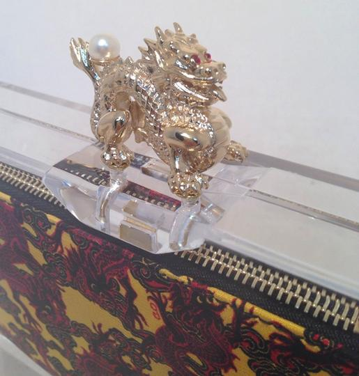 Charlotte Olympia Evening Dragon clear Clutch