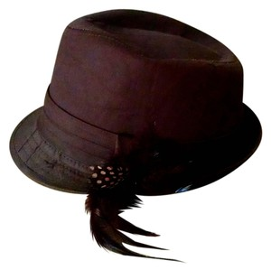 Fedora Fedora Hat Brown Feather P1443