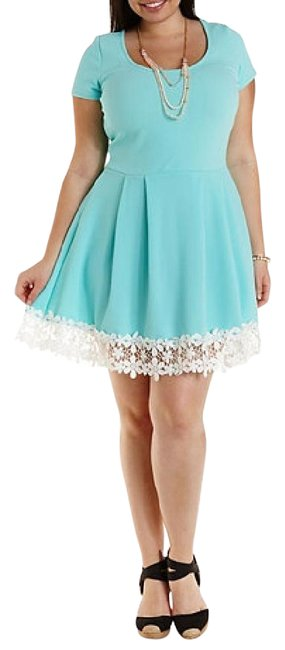 Preload https://item2.tradesy.com/images/charlotte-russe-turquoise-mid-length-short-casual-dress-size-22-plus-2x-4000786-0-2.jpg?width=400&height=650