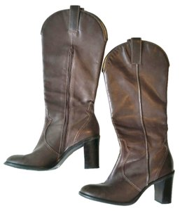 Franco Sarto Knee High Riding Cowgirl Brown Boots