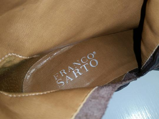 Franco Sarto Knee High Riding Zip Up Brown Boots