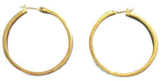 Juicy Couture White And Gold Hoop Earrings