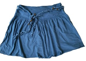 Hollister Flowy Beach Mini Skirt Blue