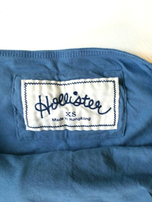Hollister Flowy Beach French Braided Soft Mini Skirt Blue