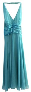 Maggy London Silk Formal Halter Evening Gown Dress