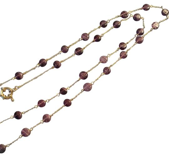 Other Purple Stone And Gold Necklace